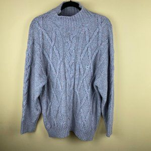 NEW Express Wool Blend Mock Neck Sweater M